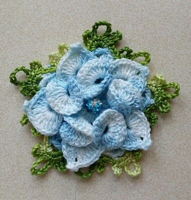 1 ps large Handmade Crochet decorative flowers 10 cm sewing applique multicolour