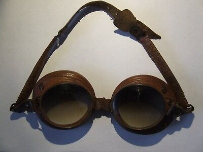 Rare Original WW1 Carl Zeiss Jena German Imperial Air Force Pilot's Goggles -