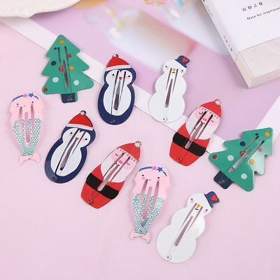 1 Pair Mermaid BB Hair Clips Xmas Santa Claus Headwear Children Girls Hairpin
