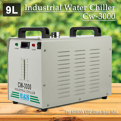 110V Thermolysis Industrial Water Chiller CW-3000 for 60/80W CO2 Glass Tube