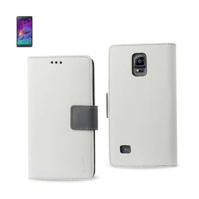 Reiko Samsung Galaxy Note 4 3-In-1 Wallet Case In White