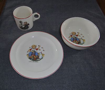 Hickory Dickory Dock Little Jack Horner Child's Place Setting Plate Bowl Cup