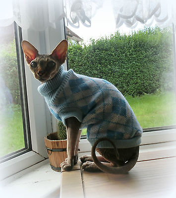Adult Warm Winter Sphynx Cat Clothes Sweater Jumper