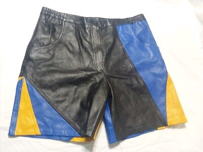 Men's Vintage RETRO 80s style Leather Shorts XL 100% leather Made in India