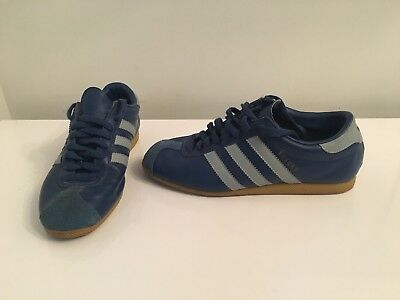 Genuine Rare Adults Unisex Blue Adidas Rekord Trainers Shoes Footwear 2002 UK 6