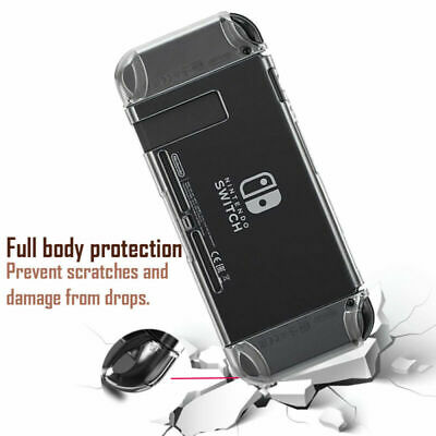 Shockproof Case for Nintendo Switch Crystal Clear Hard Anti-Scratch Case Cover