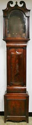 Antique C1840 Figured Mahogany English Longcase Grandfather Clock Case - Spares