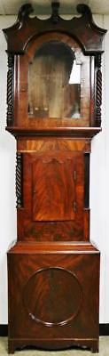 Antique C1820 English Regency Mahogany Longcase Grandfather Clock Case - Spares