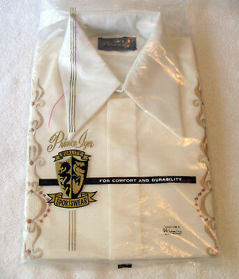 Vintage 70's Prince Igor Embroidered Shirt with Air Vents Phillipines Large NIP