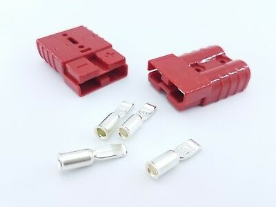 DC Battery Connector Terminals Plugs Heavy Duty 50A 600V Quick Disconnect