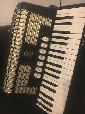 Akkordeon/Accordion , Hohner, Verdi II 96 Bass Top Zustand Schwarz Mit Koffer