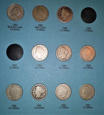 Liberty  Nickel Collection (1883-1912) (30 Coins)