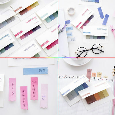 100 Pages Sticky Notes Office Bookmark Marker Memo Index Flags Tab Strip Sticker