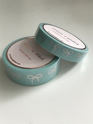 Simply Gilded Mint With Holographic Bows Washi Set