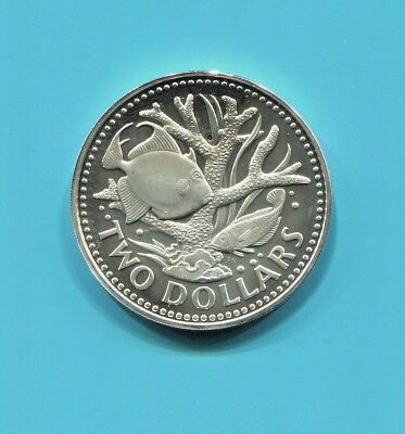 Barbados - Two Spectacular Scarce 1973 Coins: 5 Cents & 2 Dollars