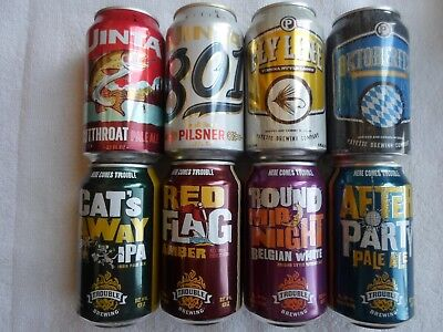8 Different  Collectible  Empty Craft  Cans
