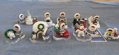collection LOT OF 10 HALLMARK vintage FROSTY FRIENDS ORNAMENTS 1994-2010 no box
