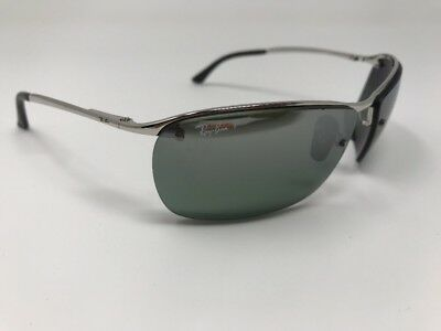 2af2d1a917 Ray-Ban RB3544 003 5L 64mm Silver  Silver Grey Mirror Polarized Authentic  X303