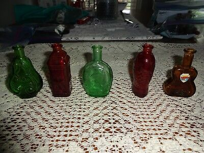 Lot of 5 Vintage Wheaton Bottles. Multiple Types
