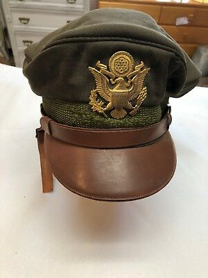 WW2 US Army AirCorps Officer Crusher Visor Cap DunHill's Miam Florida
