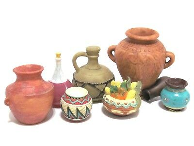 Friends Of The Feather Accessory Lot Pot,Food,Decanter,Pottery Enesco Karen Hahn