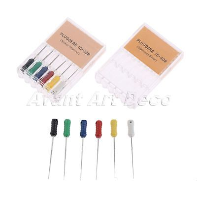 1Pack Dental Supplies Dental Root Canal Pluggers Endodontic File 15-40# 25mm