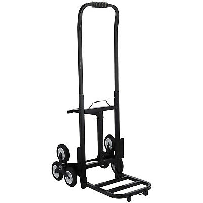 Trolley Hand Truck Loads 190KG Max Portable Six-Wheeled Stair Climbing Cart New
