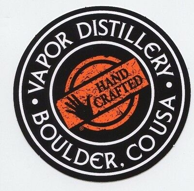 Vapor Distillery Boulder Colorado Hand Crafted Vodka Sticker Decal