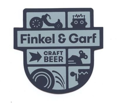 FINKEL & GARF Colorado Craft beer Sticker AMERICAN LAGER Boulder Brewery Decal