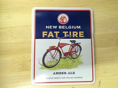New Belgium Fat Tire Amber ale Beer Sticker Brewery Brewing Decal Colorado