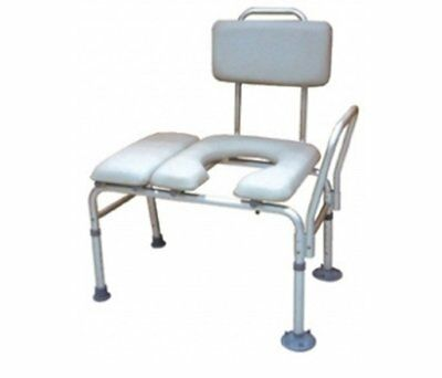Bench, Ptnt Transfer Padded Seat W/Cmode Opn Gry (Units Per Each: 1)