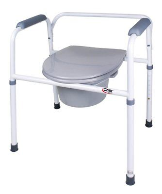 Commode, Bedside Steel Wht/Crm (Units Per Each: 1)