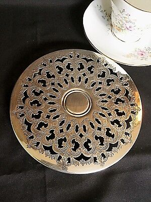 Superb Antique Silver Plate Trivet/Teapot Stand