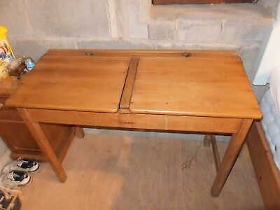 Antique double school desk