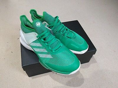 adidas ubersonic 2 tennis shoes trainers size 9 green roland garros