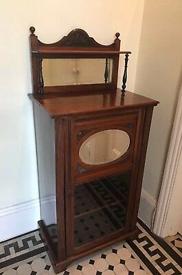 Beautiful Edwardian or late Victorian Antique Mahogany wooden Music Cabinet