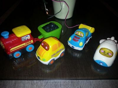 lot 3 voitures tut tut bolides + train tchou tchou  bolide VTECH