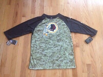 9a76539b1 NFL Washington Redskins Nike Dri-Fit Salute to Service Camo Shirt Large NEW  NWT