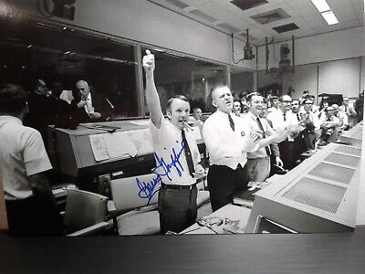 Gerald (Gerry) Griffin Authentic Hand Signed 4X6 Photo -Flight Director Apollo