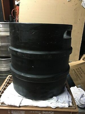 1/4 Barrel Rubber Covered Stainless Steel Industrial Keg 7.75 Gallon.