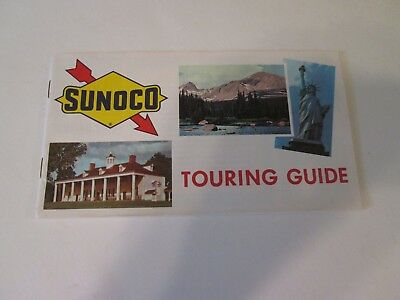 Vintage 1965 Sunoco Touring Guide Road Map Booklet