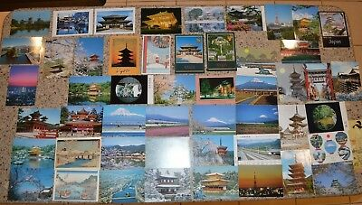 Fine Lot of 50 Unused Japanese Postcards (Including Rail/Train Cards) - NR