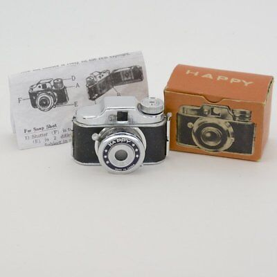 "Vintage Collectible Rare Name ""Happy"" Subminiature Camera w/ Box,Film & Instruct"