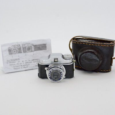 "Vintage Collectible Rare Name ""Miracle"" Subminiature Camera w/Case, Film & Instr"