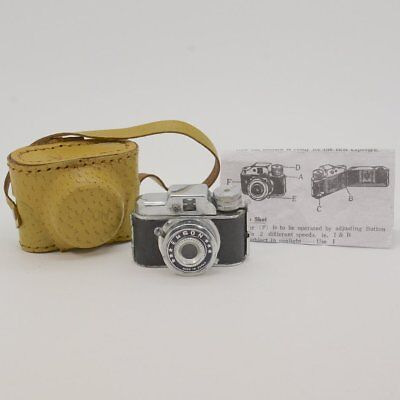 "Vintage Collectible Unusual Name ""Emson"" Subminiature Camera w/ Case & Instruct."