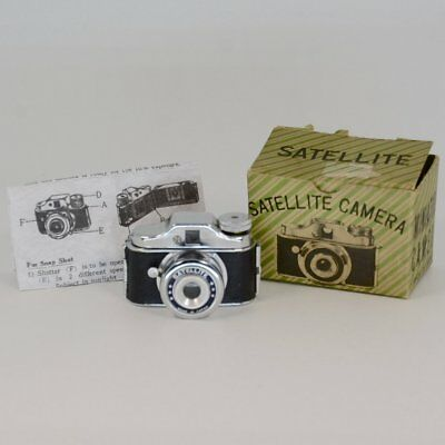 "Vintage Collectible Rare Name ""Satellite"" c.1950 Subminiature Camera w/Box & Ins"