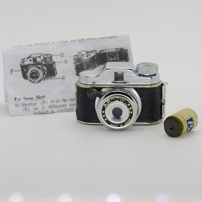 "Vintage Collectible Unusual Name ""Arrow"" Subminiature Camera  w/Film & Instruct"