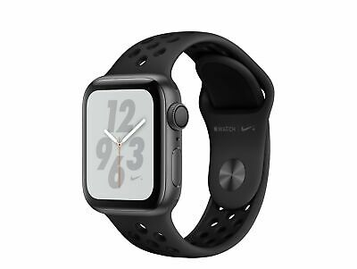 Apple Watch Series 4 Nike+, 40 mm, Alu. space grau, Sportarmb. anthr/blk