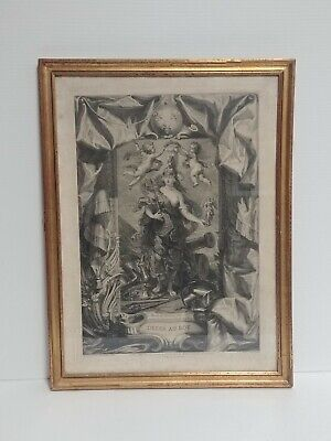DEDIE AU ROY 1708 Jean Baptiste Massé - Peter Paul Rubens Antique Etching