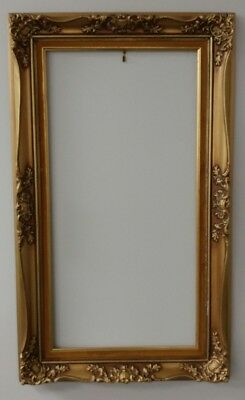 Antique Parisienne Wood Gold Ornate Painted Frame 2921 (Aged Imperfections)